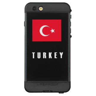 Turkey Flag Simple Dark LifeProof NÜÜD iPhone 6s Plus Case