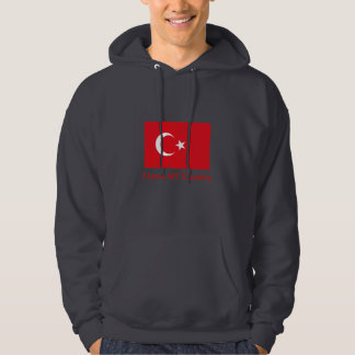 Turkey Flag The MUSEUM Zazzle I Love MY Country Hoodie