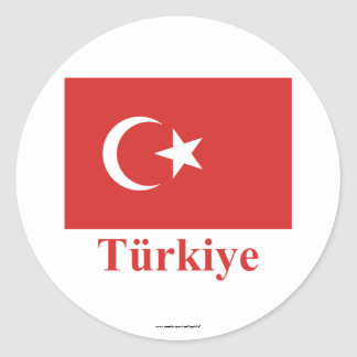 Turkey Flag with Name in Turkish Stickers