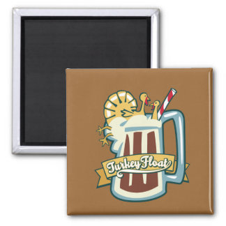 Turkey Float 2 Inch Square Magnet