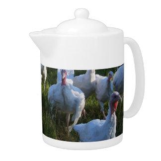 Turkey Flock Teapot
