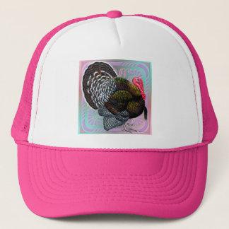 Turkey:  Floral Bronze Tom Trucker Hat