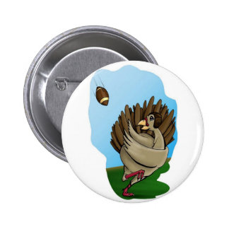 Turkey Football Pinback Button