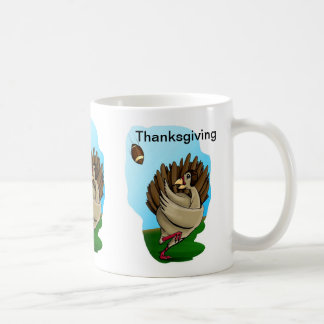 Turkey Football Thanksgiving Mug