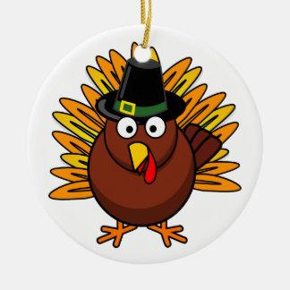 Turkey for Thanksgiving Holiday Ceramic Ornament