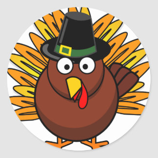 Turkey for Thanksgiving Holiday Classic Round Sticker