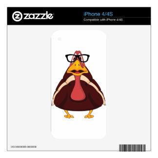 turkey glasses iPhone 4S skin