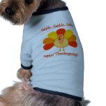 Turkey...Gobble, Gobble Doggie T Shirt