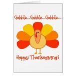 Turkey...Gobble, Gobble Greeting Card