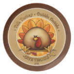 Turkey Gobble - Thanksgiving plate