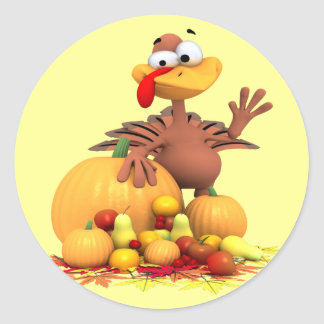 Turkey Greetings Sticker