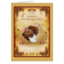 Turkey Happy Thanksgiving Greeting Card