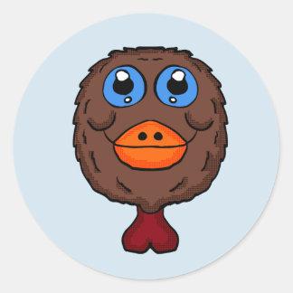 Turkey head classic round sticker