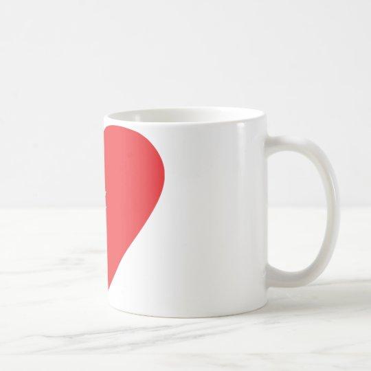 Turkey heart icon coffee mug