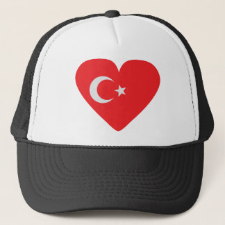 Turkey heart icon trucker hat