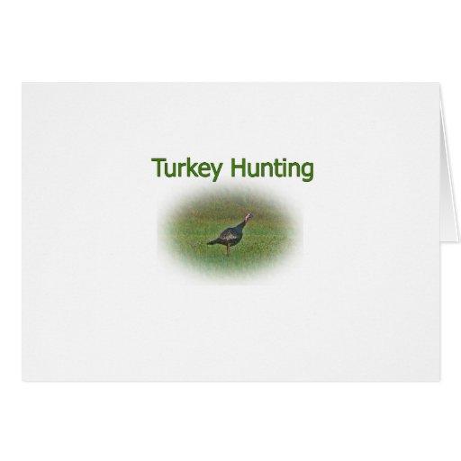 Turkey Hunting Logo Greeting Card