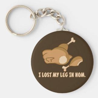 Turkey: I lost my leg in Nom Basic Round Button Keychain