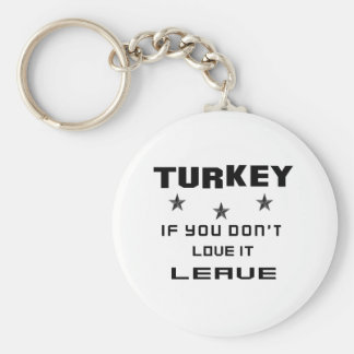 Turkey If you don't love it, Leave Keychain
