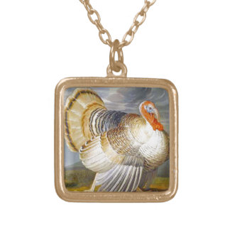 Turkey in a Landscape Gold Plated Necklace