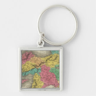 Turkey In Asia 3 Silver-Colored Square Keychain