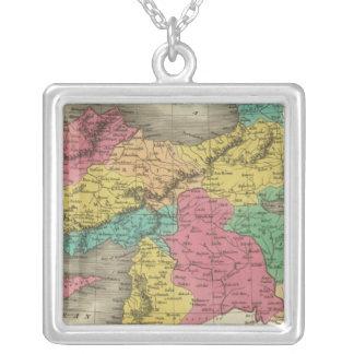 Turkey In Asia 3 Square Pendant Necklace