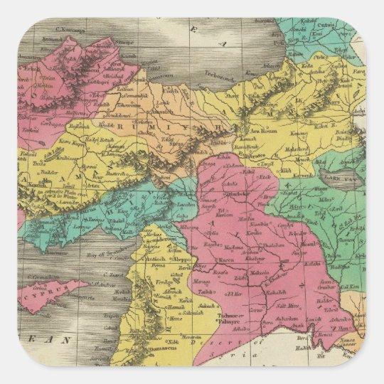 Turkey In Asia 3 Square Sticker