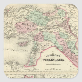 Turkey in Asia, Persia, Arabia, Beloochistan Square Sticker