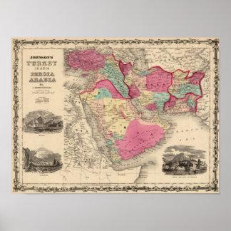 Turkey In Asia Persia Arabiaandc Poster