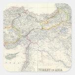 Turkey in Asia, Transcaucasia Square Sticker