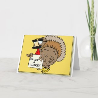 Turkey in disguise card