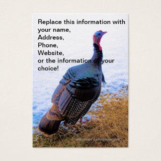 Turkey in Snow 1 Business Card