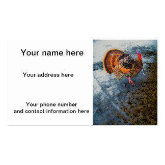 Turkey in Snow 2 Business Cards