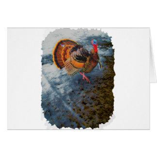 Turkey in Snow 2 Card