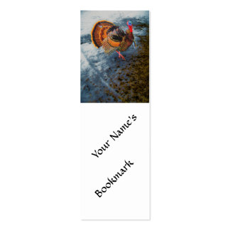 Turkey in Snow 2 Double-Sided Mini Business Cards (Pack Of 20)