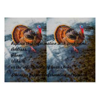 Turkey in Snow 2 Large Business Card