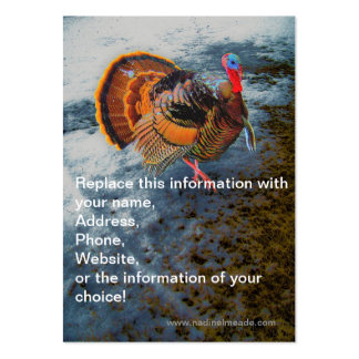Turkey in Snow 2 Large Business Cards (Pack Of 100)