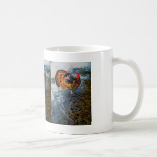 Turkey in Snow 2 Coffee Mugs