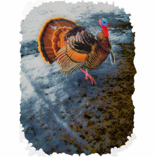 Turkey in Snow 2 Statuette