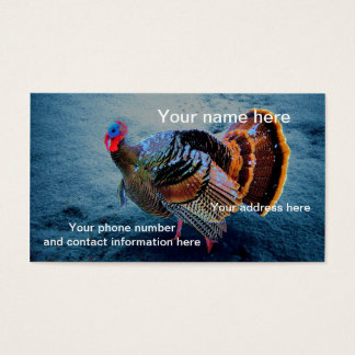 Turkey in Snow 3 Business Card