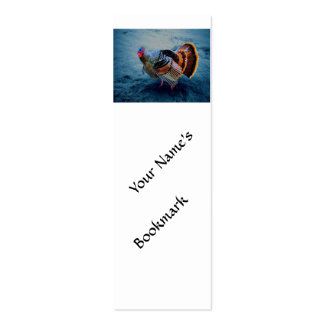 Turkey in Snow 3 Double-Sided Mini Business Cards (Pack Of 20)