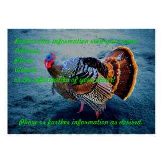 Turkey in Snow 3 Large Business Card