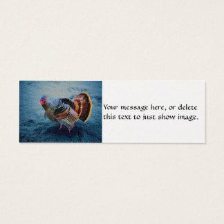 Turkey in Snow 3 Mini Business Card