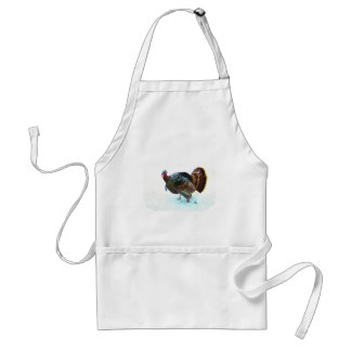 Turkey in Snow 4 Adult Apron