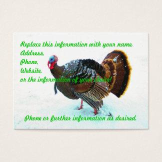 Turkey in Snow 4 Business Card