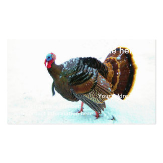 Turkey in Snow 4 Business Card
