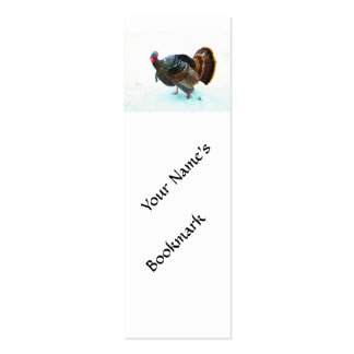 Turkey in Snow 4 Double-Sided Mini Business Cards (Pack Of 20)