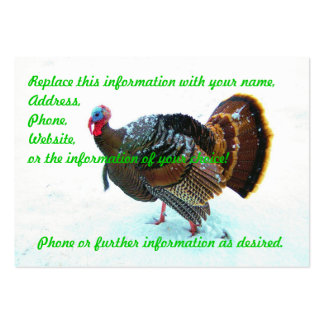 Turkey in Snow 4 Large Business Card