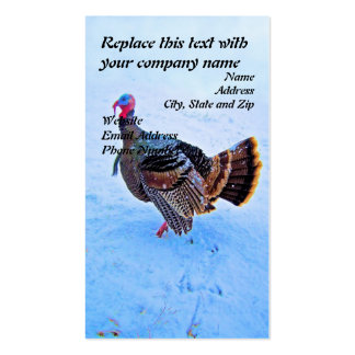 Turkey in Snow 5 Business Card Template