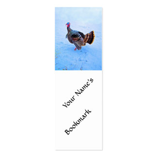 Turkey in Snow 5 Double-Sided Mini Business Cards (Pack Of 20)
