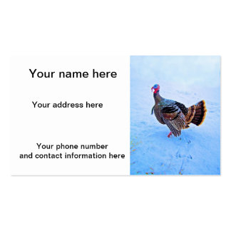 Turkey in Snow 5 Double-Sided Standard Business Cards (Pack Of 100)